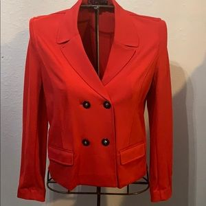 Red Double Beasted Blazer